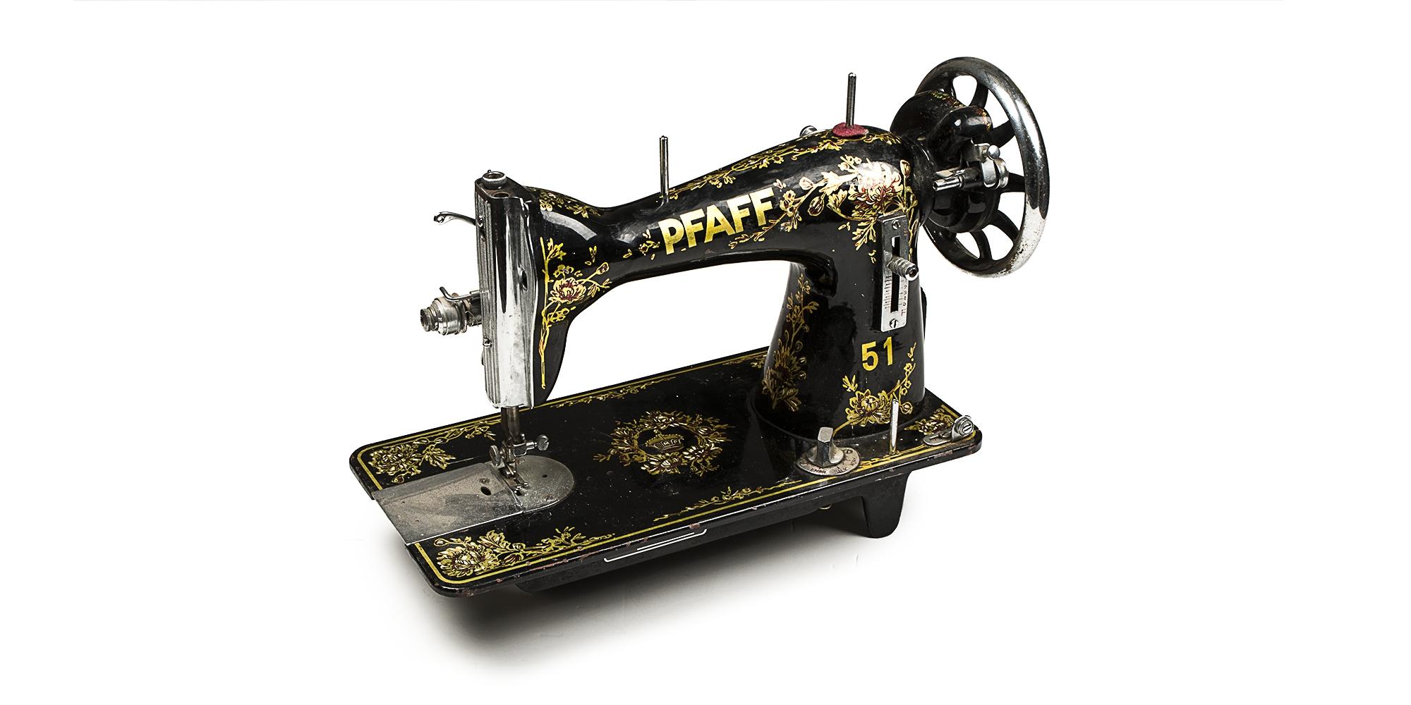 מגניב ביותר מכונת תפירה ישנה מתוצרת 'PFAFF' WF-04